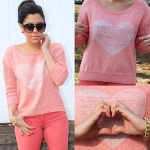One grey day  Sweaters - Coral Heart Sweater