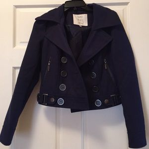 Blue cropped coat