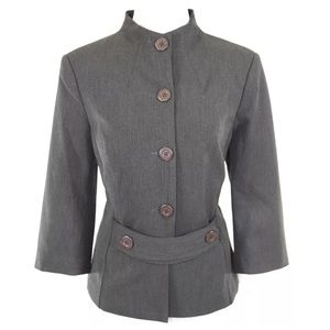 Donna Degnan Jackets & Blazers - Donna Degnan Gray Stylish Fitted Jacket 8 $350