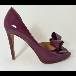Valentino Shoes - Valentino Couture bow D'Orsay pump Sz 37