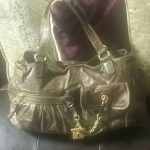 Juicy couture brown leather handbag