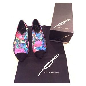 Brian Atwood Shoes - Brian Atwood Avignon Floral Cap Toe Ballet Flats