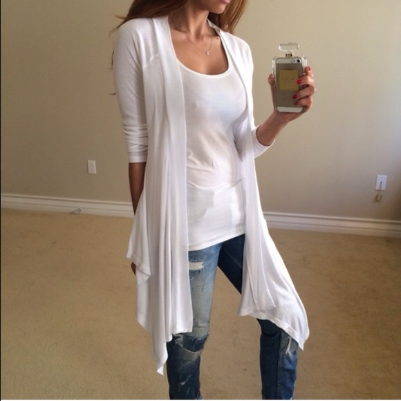 SOLD • White Flowy Cardigan S S from Jacqueline 🌙's closet on ...