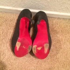 86ed5ddd63a ALBA Shoes - Red Bottom Black Sparkle Platform Pumps