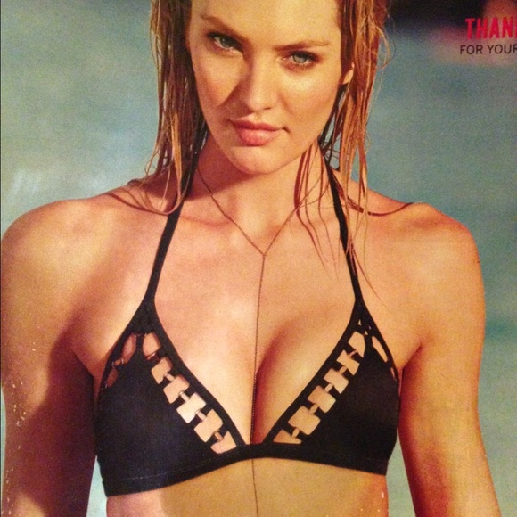 a7d0397e846 Black triangle bathing suit top NWT