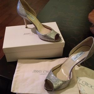Jimmy Choo Logan Peep Toe Dorsay Pump