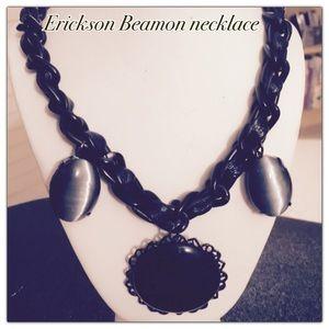 Erickson Beamon Jewelry - Erickson Beamon black stone & leather necklace