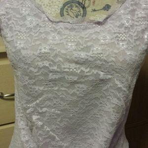 Victoria's Secret Tops - Victoria's Secret Lilac lace top