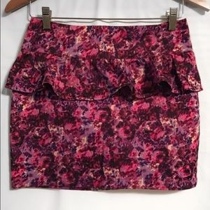 Purple pink high waisted mini skirt