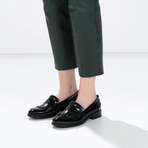 c89c8154ceb Zara fringed penny loafer