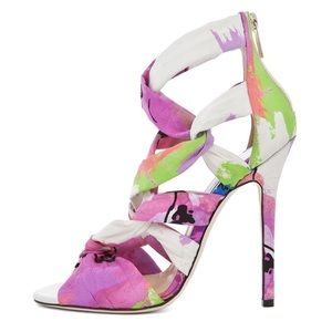Jimmy Choo Shoes - Jimmy Choo Kembie Floral Strappy Heeled Sandals