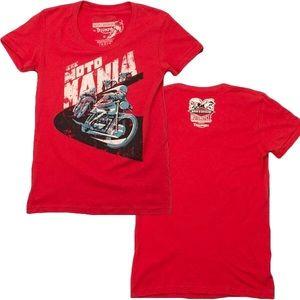 Triumph Tops - Triumph Motorcycle Women's Mods Vs Rockers T Shirt