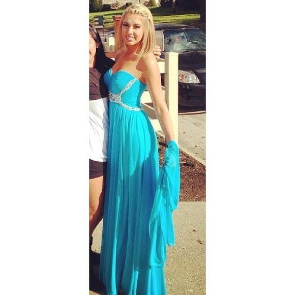 Sherri Hill Dresses Bright Blue Prom Dress Poshmark