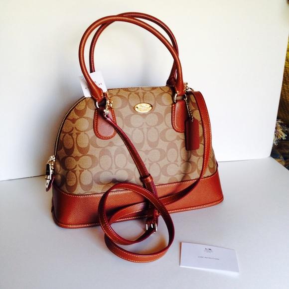 73% off Coach Handbags - SALE!❤️NWT Coach Cora Domed Satchel ...