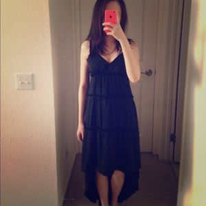 NWT Banana Republic black high low dress