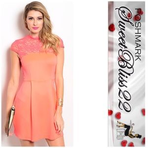 Dresses & Skirts - 🎁Neon Coral Stunning Dress🎁