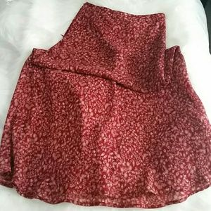 Dresses & Skirts - Long Red Printed Vintage Skirt