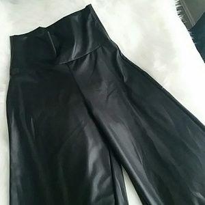 High-Waisted Leatherette Pants