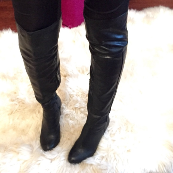 BCBGMaxAzria Shoes - Leather over the knee boots