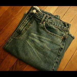 Vintage Gap 1969 Distressed Denim Skirt
