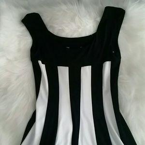 Black & White Fit & Flare Dress