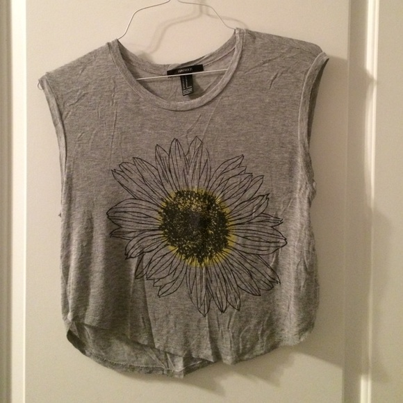 sunflower crop top forever 21