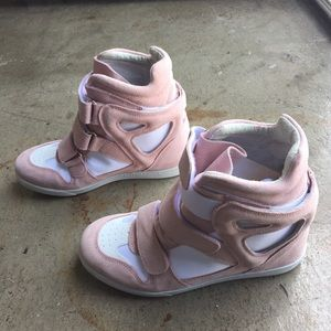 Modern Vice Shoes - Modern Vice pink sneakers with an invisible heel