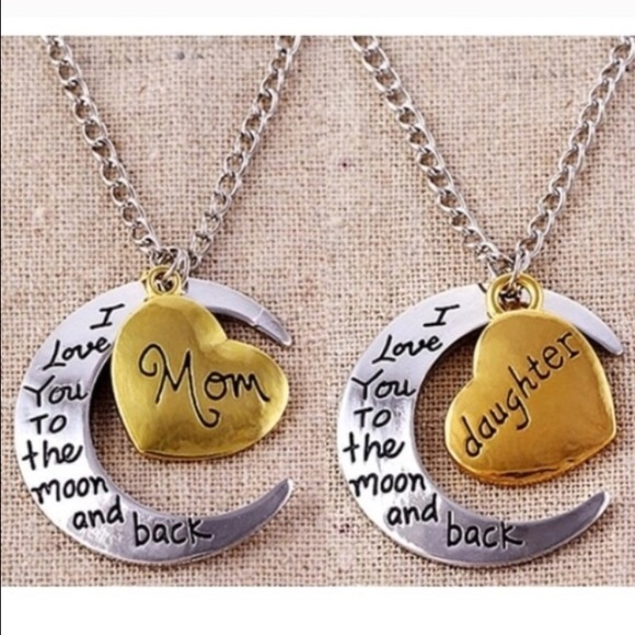 Jewelry 2pk i love you to the moon back mom daughter poshmark 2pk i love you to the moon back mom daughter mozeypictures Images