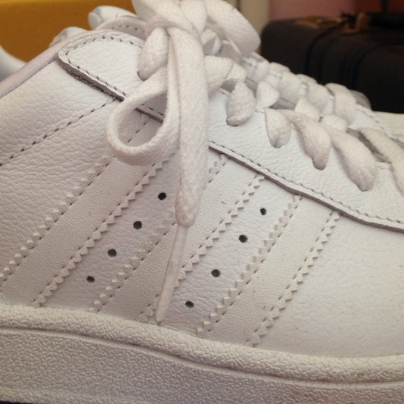 Adidas Superstars White on