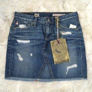 AG Adriano Goldschmied Dresses & Skirts - NWT AG Jeans Distressed denim mini skirt 25