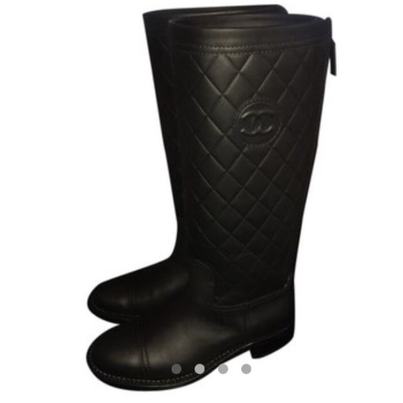 chanel quilted boots. chanel shoes - 🚫sold🚫 chanel black quilted boots poshmark