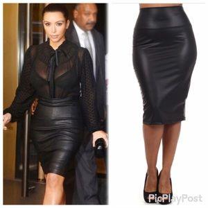 e94d1f422fe Fashion Chic Skirts - Plus 🆕🎀 Black High Waist Faux Leather Skirt