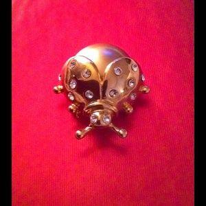 Accessories - NWOT Rhinestone Ladybug Pin