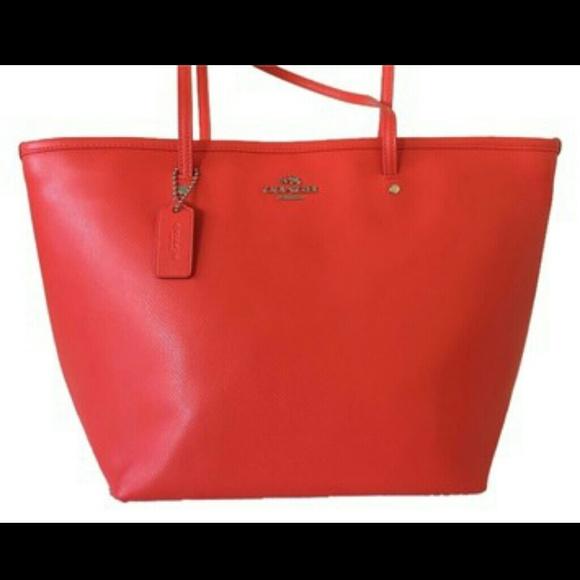 70% off coach Handbags - Red Coach Tote from Roxy's closet on Poshmark