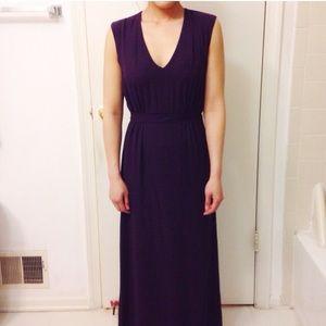 Aubergine maxi dress