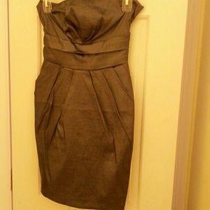 Sleeveless gray mini dress