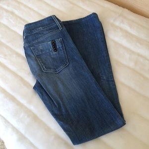 Black Orchid Denim - Black Orchid Black Beauty High Rise Flared Jeans