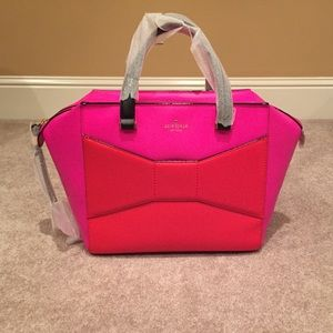Kate Spade Pink Orange Beau Bag