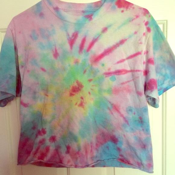 Homemade Tops Cropped Tie Dye Shirt Poshmark