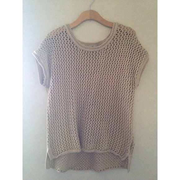 411cb778 Urban Outfitters Tops | Ecote Beige Crochet Knitted Top | Poshmark
