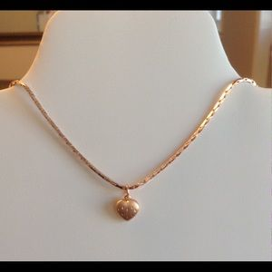 .925 Sterling Silver Jewelry - Set Necklace and Earrings Rose Gold .925 SSilver