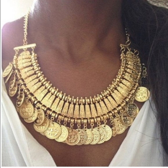Jewelry - Turkish Indian Gold Token Coin Necklace
