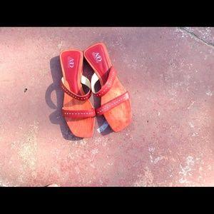 Italian red sandals