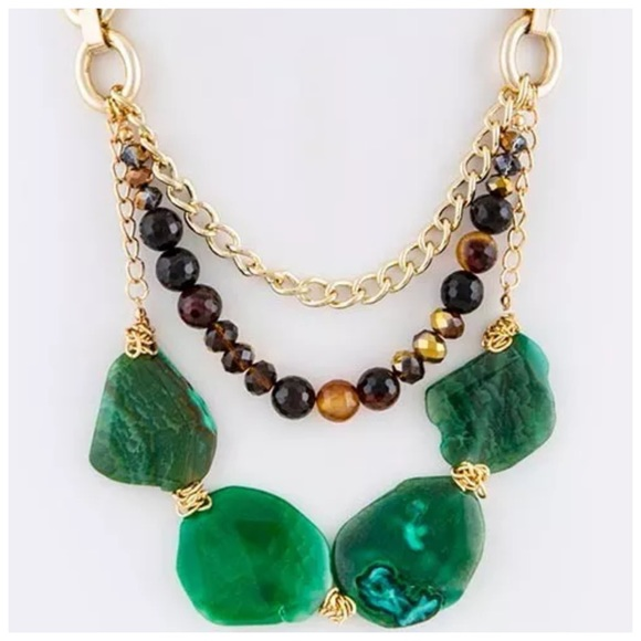 california l necklace products full riah stone black fashion image natural shoptiques wired front from