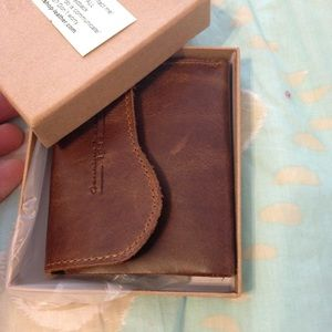 Handmade Leather bi-fold wallet with extra room!