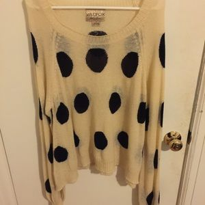 Wildfox White Label Sweater polka dot