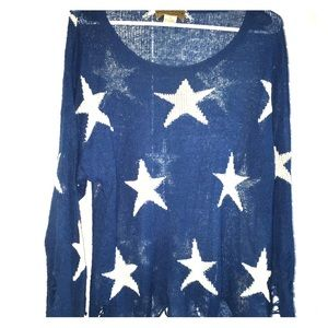 Wildfox white label seeing stars Lennon sweater