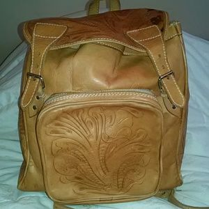 Handbags - Tooled leather backpack