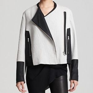 Authentic Helmut Lang Leather Contrast Jacket