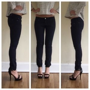 Zara women navy blue jeans 4